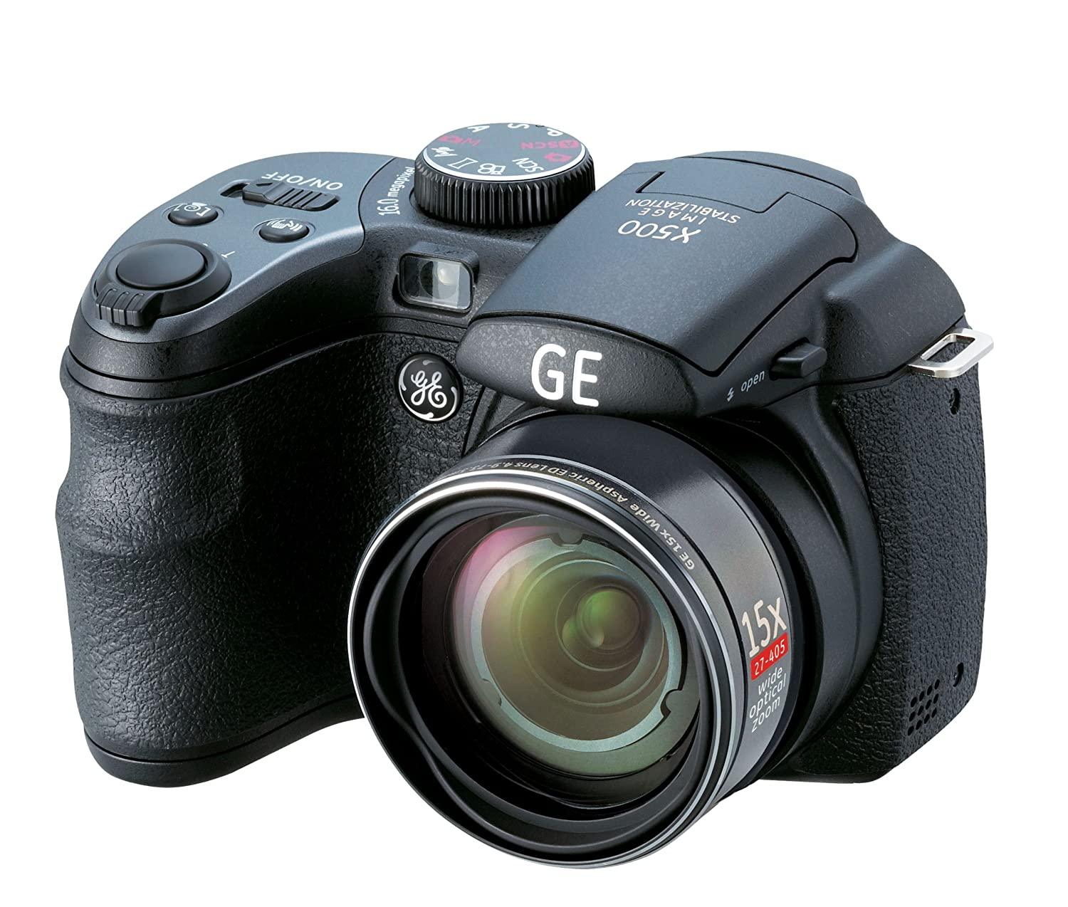 Amazon.com : GE Power Pro X500-BK 16 MP with 15 x Optical Zoom Digital  Camera, Black (OLD MODEL) : Point And Shoot Digital Cameras : Camera & Photo
