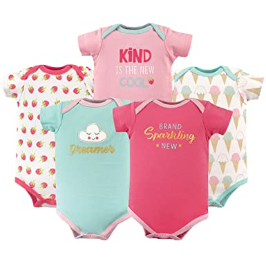 Size 9-12 Months White Luvable Friends Unisex Baby 3-Pack Bodysuits