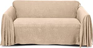 Stylemaster Alexandria Furniture Throw, Large Sofa, Beige