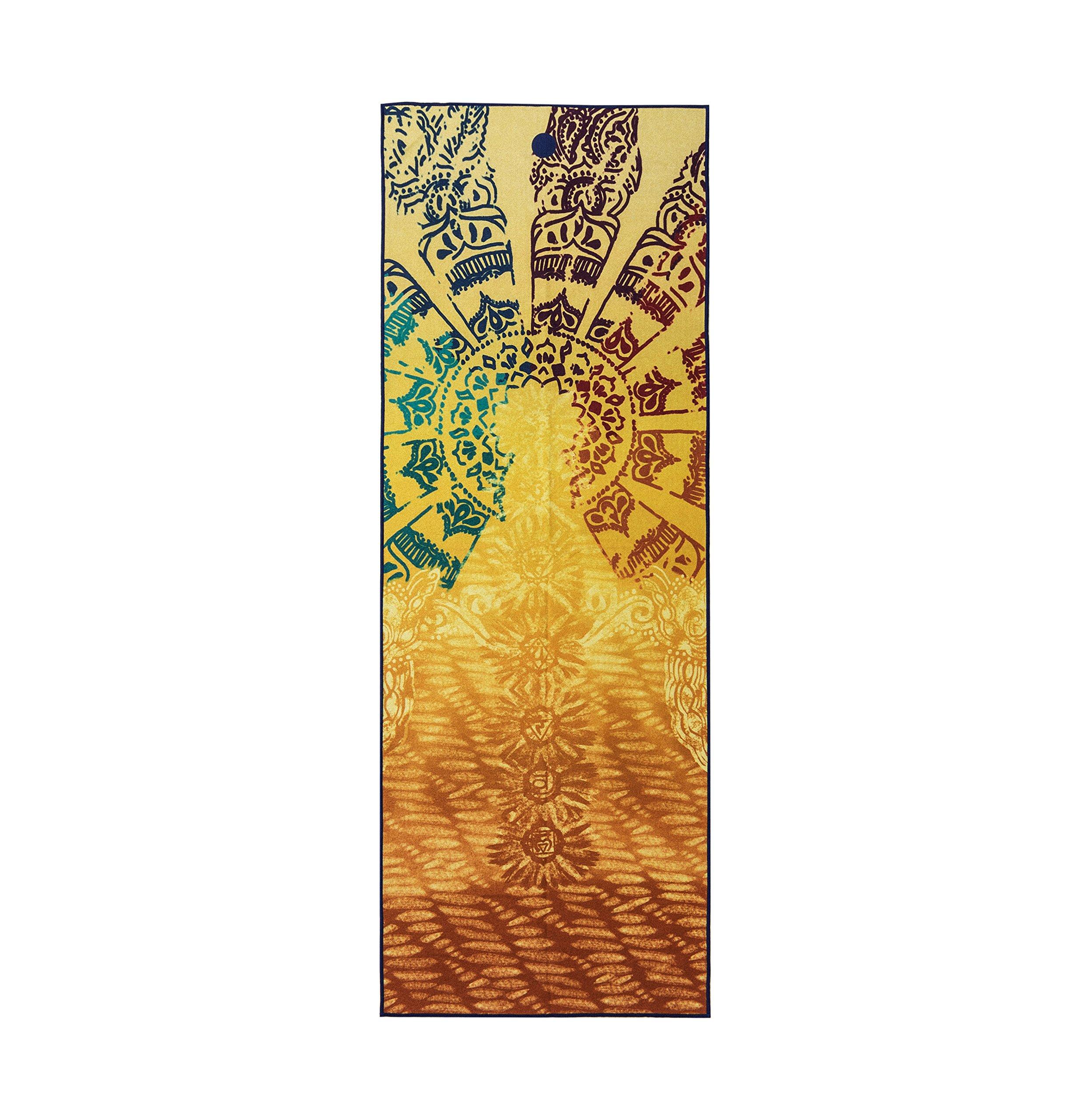 Yogitoes Yoga Mat Towel Print, Chakra Print, 72'' by Yogitoes