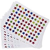 eBoot 0.9 cm Assorted Colors Star Stickers Labels, 10 Sheet