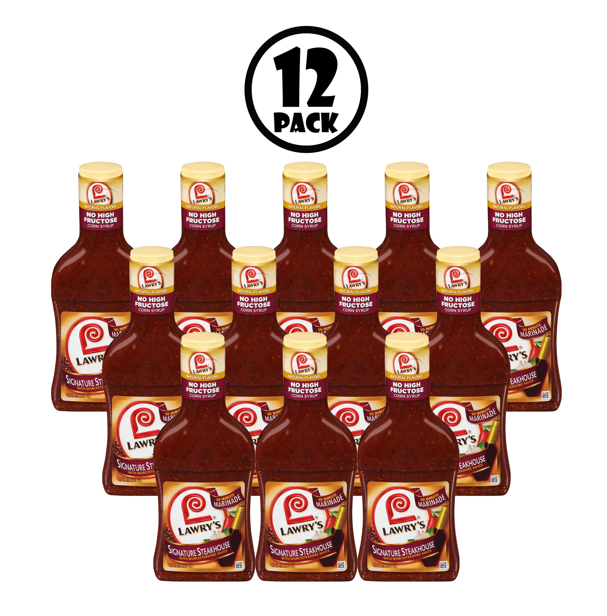 (12 Pack) Lawry's Steakhouse Marinade, 12 oz