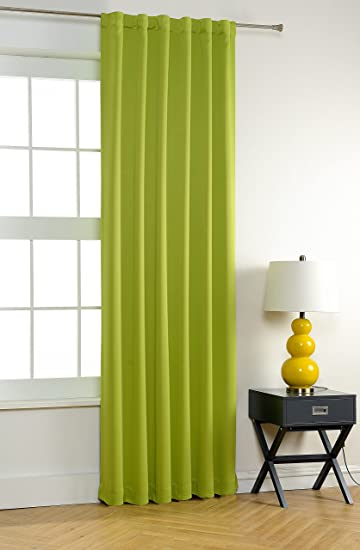 MYSKY HOME Thermal Insulated Back Tab And Rod Pocket Blackout Curtains,  Apple Green, 52