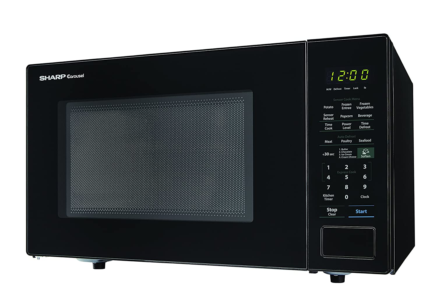 Amazon.com: Sharp Microwaves ZSMC1441CB Sharp 1, 000W Countertop Microwave  Oven, 1.4 Cubic Foot, Black: Kitchen & Dining