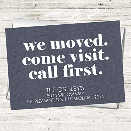 Amazon Com Personalized Moving Announcements New Home Postcard