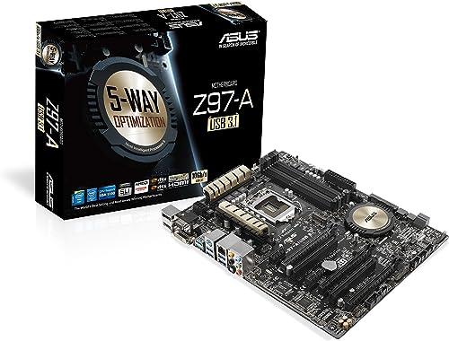 Asus ATX DDR3 2600 LGA 1150 (10Gb/s) Motherboards (Z97-A)