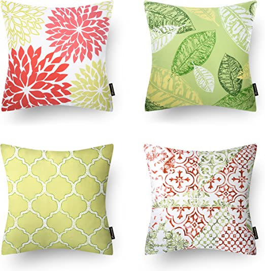 Phantoscope Set of 4 Living Series Coffee Color Decorative Throw Pillow Case...