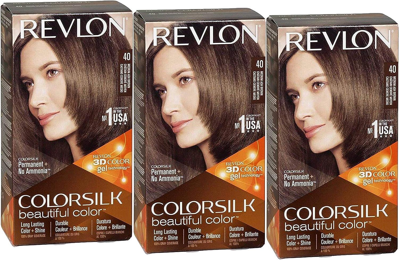 Revlon ColorSilk - Tinte para el pelo, nº 40, marrón ceniza ...
