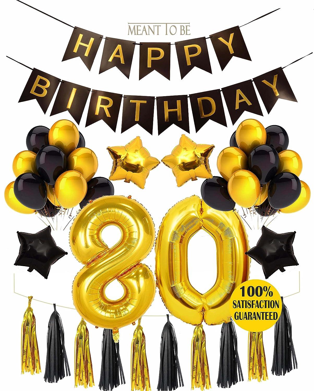 80th Birthday Decoration BIRTHDAY PARTY DECORATIONS KIT