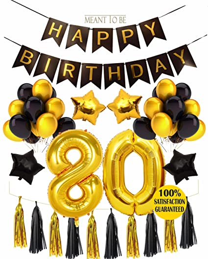 80th Birthday Decoration BIRTHDAY PARTY DECORATIONS KIT