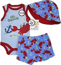 06b5983d6 Wee Play Weeplay Kids Buster Brown Baby Boys Clothing, Sea Explorer 3 Piece  Creeper Apparel