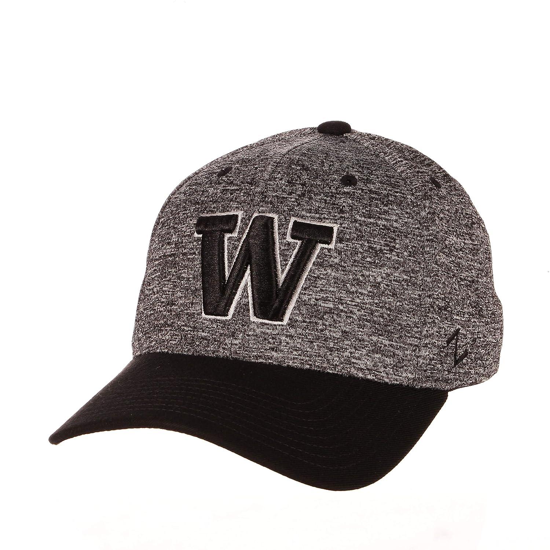 NCAA Zephyr Washington Huskies Mens Interference Z-Fit Hat Charcoal//Black X-Large