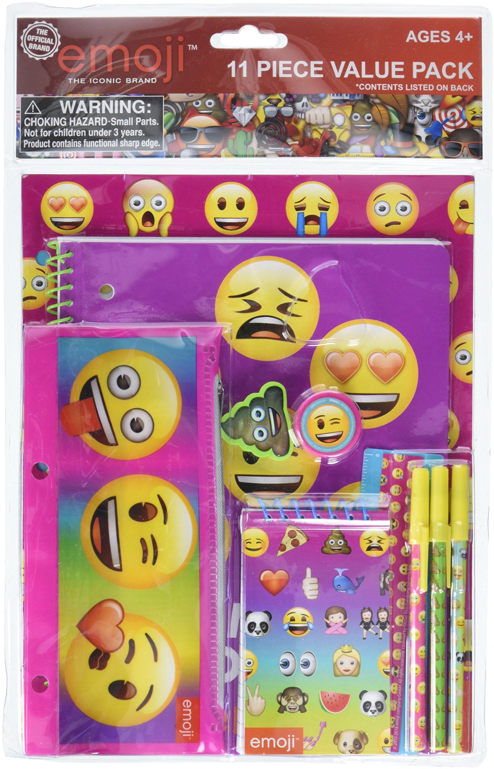 Emoji Stationery 11pc Set