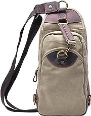 Gootium Canvas Sling Bag Chest Pack Cross Body Shoulder Backpack