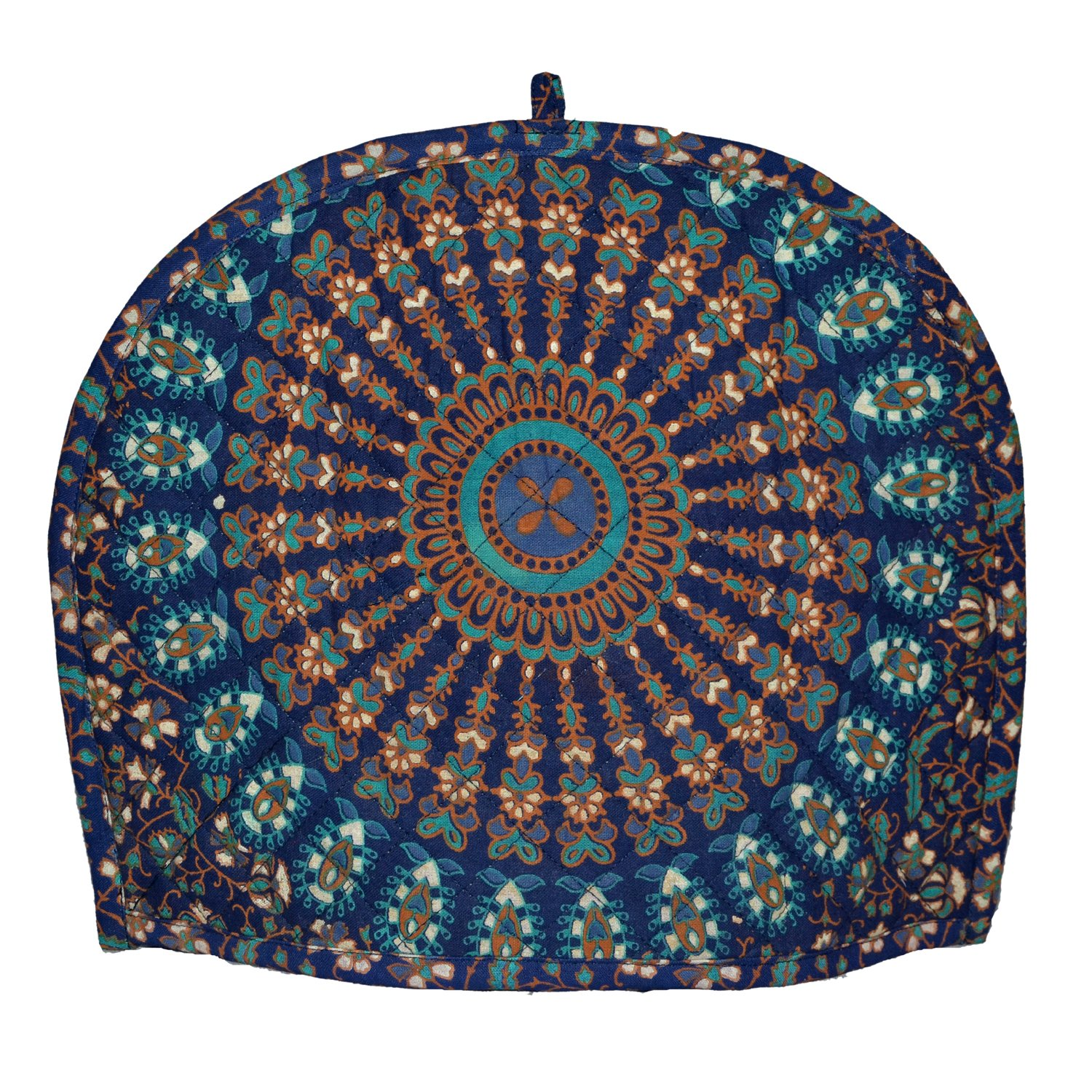 New blue ombre mandala Tea cozy For Teapot Mandala Print 100% Cotton Tea Cosy, tea cozy for 2 cup teapot,Tea Pot Cover,Tea Cozy cover, blue ombre Mandala Tea cosy Cover by Marudhara Fashion (Image #3)