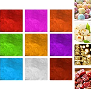 Kare & Kind 900 pcs Chocolate Wrappers - Aluminium Foil Wraps for Candies - Food Safe and Non-Toxic - Packaging for Homemade Sweets, Lollipops, Brownies - Also for DIY, Art, Crafts