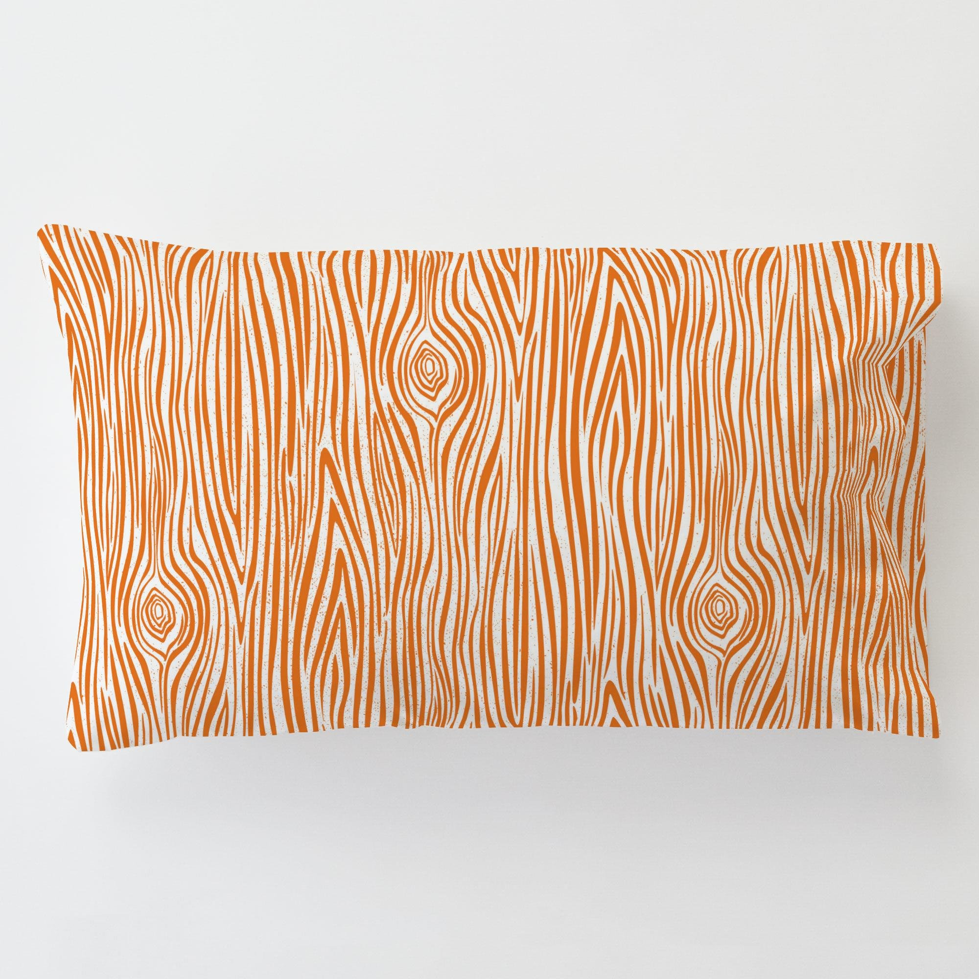 Carousel Designs Orange Woodgrain Toddler Bed Pillow Case with Pillow by Carousel Designs (Image #1)
