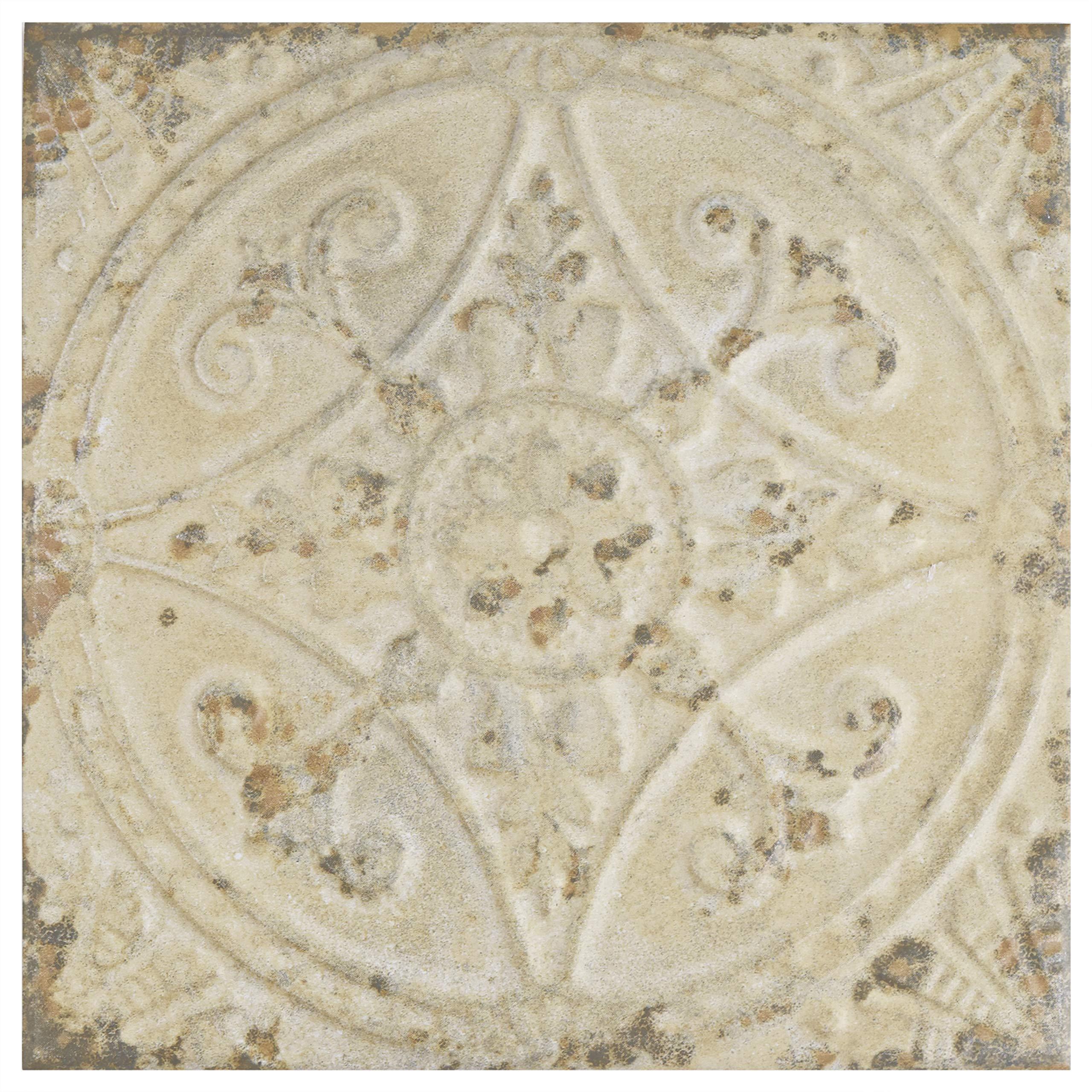 SomerTile FPESAJB Murcia Ceramic Floor and Wall Tile, 13'' x 13'', Blanco