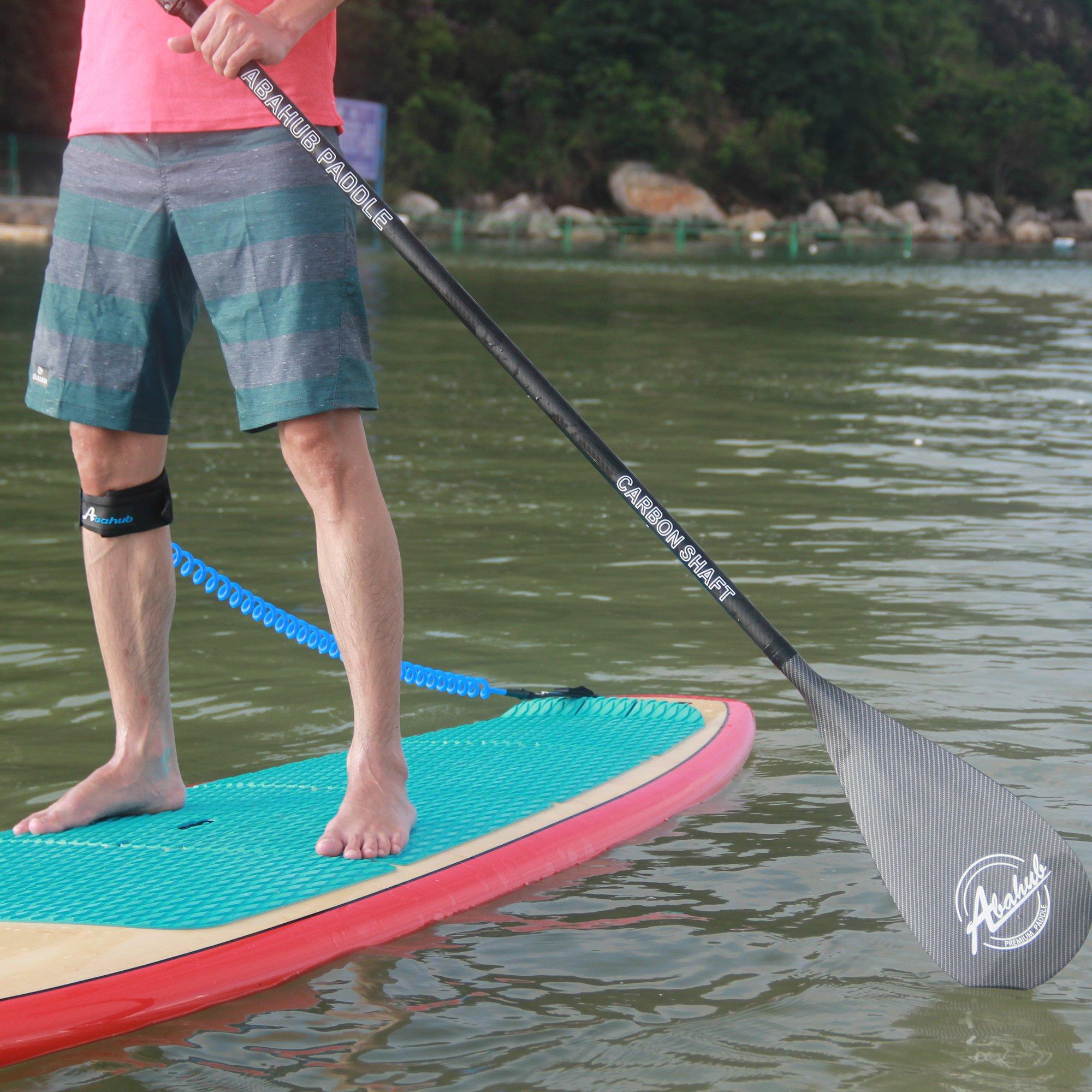 ABAHUB 3-Piece Adjustable Carbon Fiber SUP Paddle Carbon Shaft Carbon Print Plastic Blade + Bag by ABAHUB (Image #4)