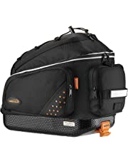 Ibera Bike Trunk Bag - PakRak Clip-On Quick-Release Bicycle Commuter Bag