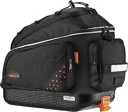 PakRak Clip-On Quick-Release Bicycle Commuter Bag Ibera Bike Trunk Bag