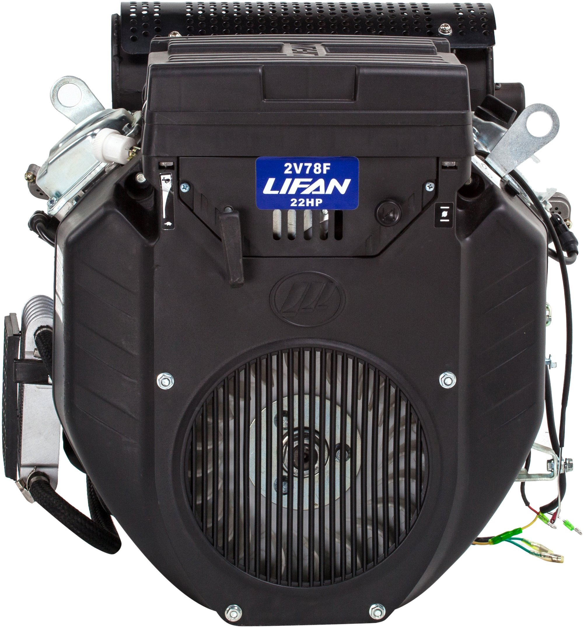Lifan LF2V78-2DQS Industrial Grade 22 HP 688cc V-Twin 4-Stroke OHV Gas Engine with Electric Start and 1-Inch Shaft