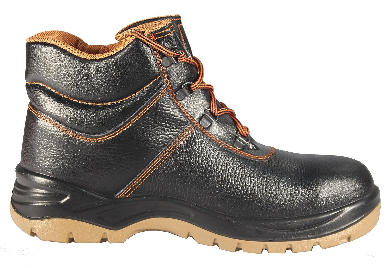 Mekap Jupiter 023r - Bottes Adultes Et Travail Unisexe Chaussures Chaussures De Sécurité De Chaussures De Chaussures De Sécurité Barton Peau Src, Couleur Noire, Taille 42