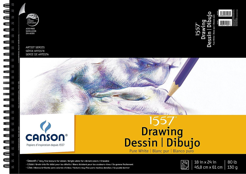 Canson Bloc de 0, Dibujo Blanco Puro 1557, 0, de 9