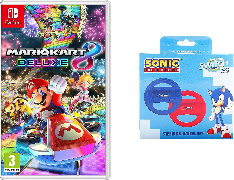 Mario Kart 8 Deluxe + Pack 2 Volantes Sonic (Indeca): Amazon.es ...
