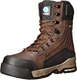 "Carhartt Men's 8"" Force Waterproof Composite Toe Insulated Work Boot With Zipper CMA8359"