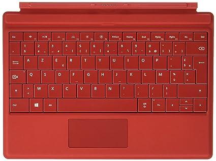 Microsoft - Teclado tapa para Surface 3 Roja AZERTY