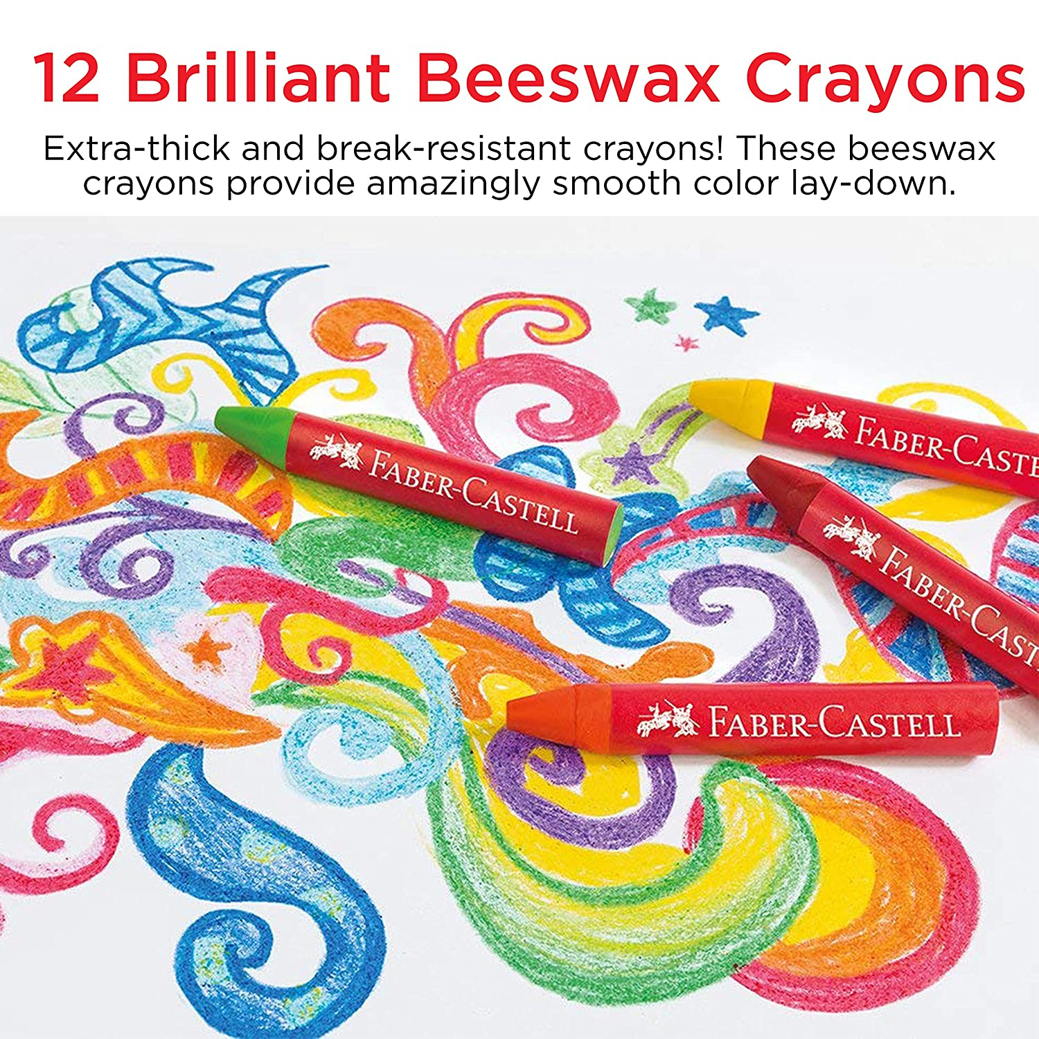 12 Count Brilliant Beeswax Crayons in Storage Case