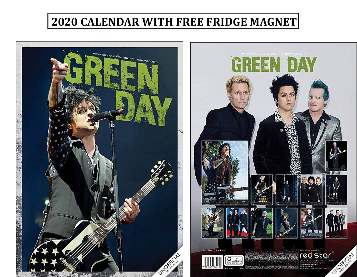 Green Day Calendario 2020 With Green Day Imán para Nevera: Amazon ...