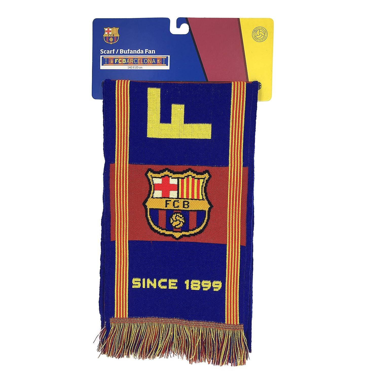 Producto Oficial FC Barcelona Bufanda FCBARCELONA (Gran Escudo)  Amazon.es   Deportes y aire libre 3bc887ae88e