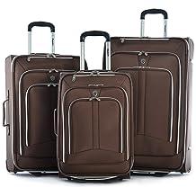 Olympia Hamburg Luggage Set, Brown, One Size