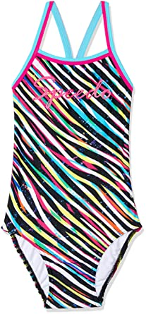 2fbb574bdbede Speedo Girls  Zebra Streak Sierra ONE Piece