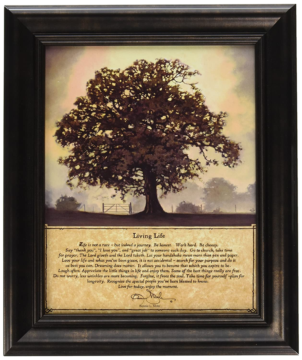 19 X 23 Inches Artistic Reflections P241 Living Life Framed Art By Bonnie Mohr