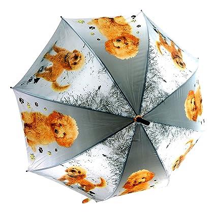 Paraguas perro XXL 100 cm Cachorro gris pantalla Golf pantalla Umbrella