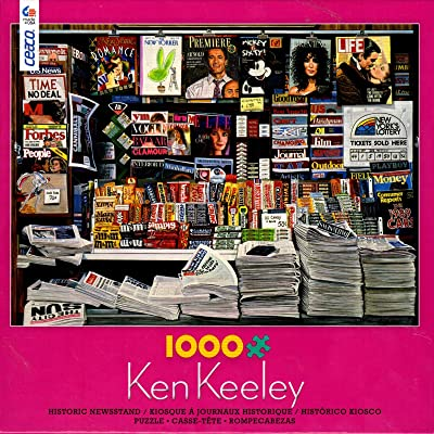 Historic Newsstand by Ken Keeley 1000 Piece Puzzle: Toys & Games