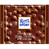 Ritter Sport Bars, Milk Chocolate with Whole Hazelnuts, 3.5 Ounce (Pack of 10)
