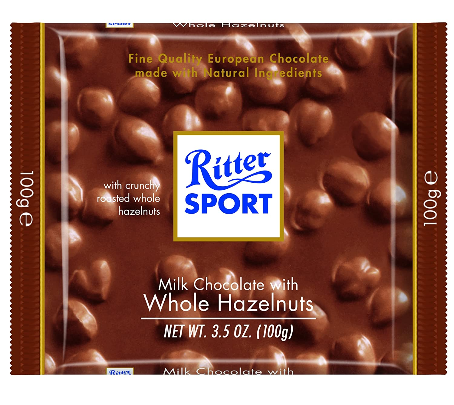 Amazon.com : Ritter Sport Bars, Milk Chocolate with Whole ...