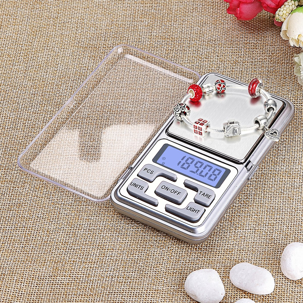 Mini Digital Weighing Scale 200g for Jewelry Coins Reload and Kitchen Scale with Back-Lit LCD Display CHAMVIS Digital Pocket Scale 200 x 0.01g