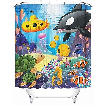 Homeizen Kids Shower Curtain Set