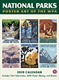 Ziga Media, LLC National Parks Poster Art of the WPA Wall Calendar with Grid 2019 (Printed in USA)