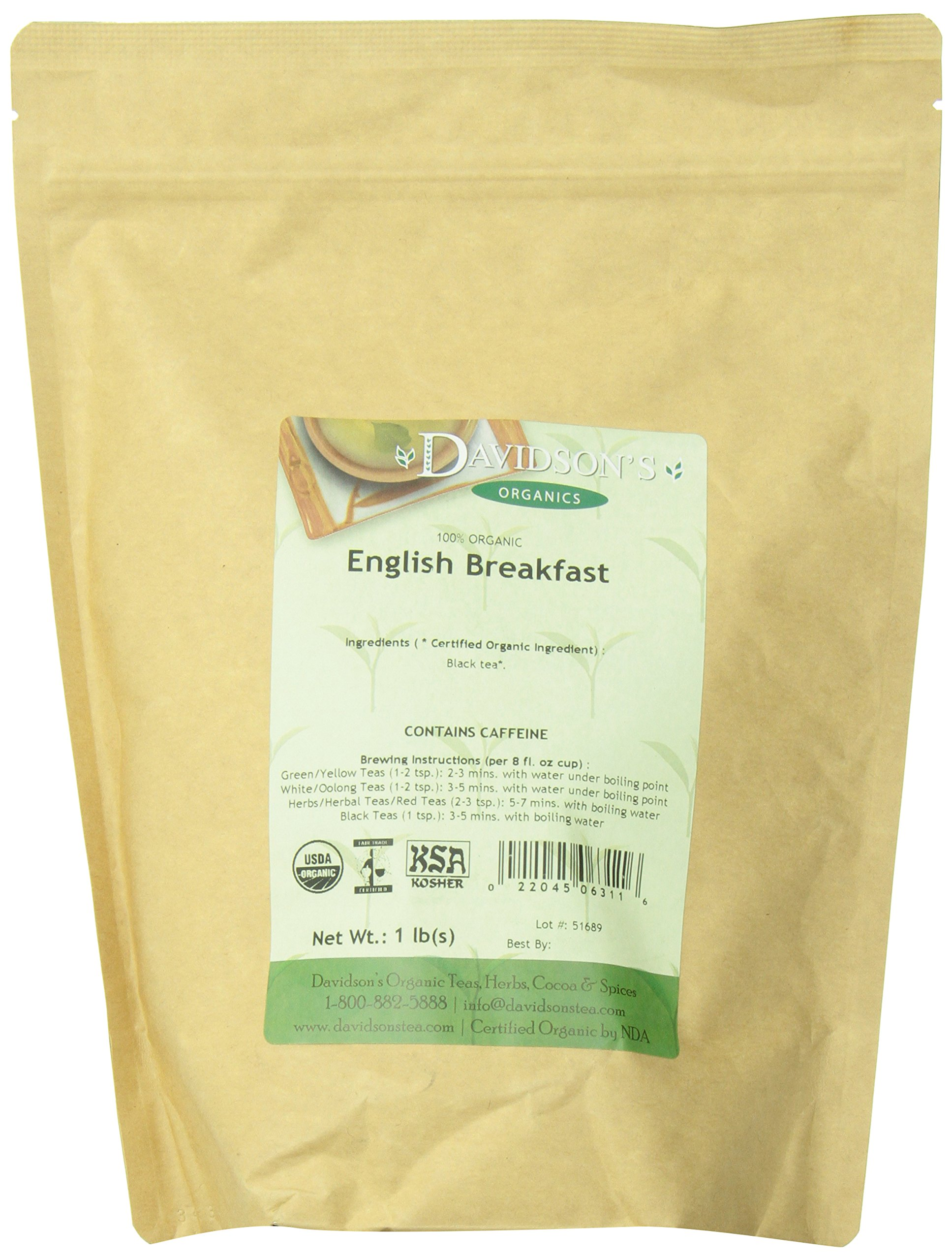 Davidson's Tea Bulk, English Breakfast, 16 Ounce by Davidson's