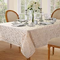 Lahome Elegant Damask Jacquard Tablecloth - Polyester Fabric Spillproof Water Resistant Washable Table Cover for Kitchen…