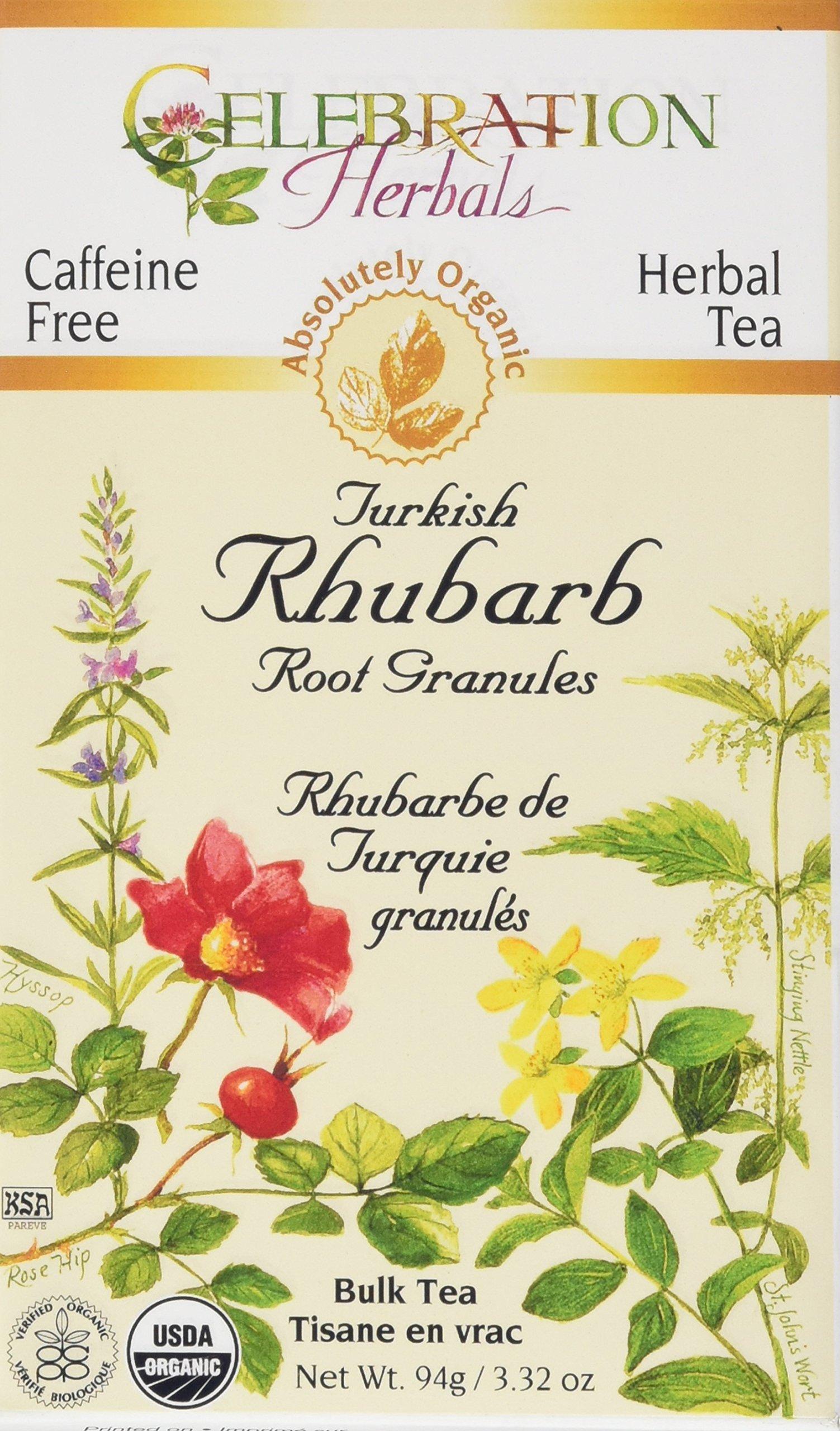 Celebration Herbals Organic Herbal Turkish Rhubarb Root Powder Loose Pack Tea, 3.13 oz