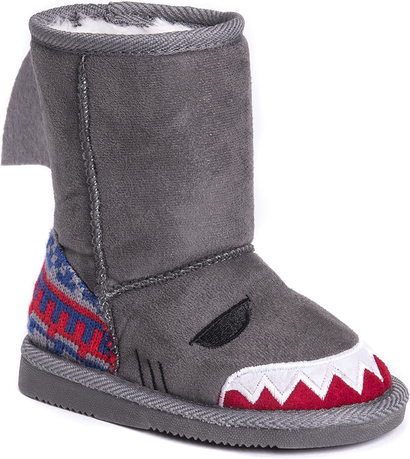 MUK LUKS Kids Finn Shark Boots Fashion