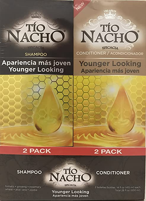 Amazon.com : TIO NACHO Younger Looking Shampoo Conditioner, Twin Pack (2 Pack, 14 fl. Oz. Each) : Beauty