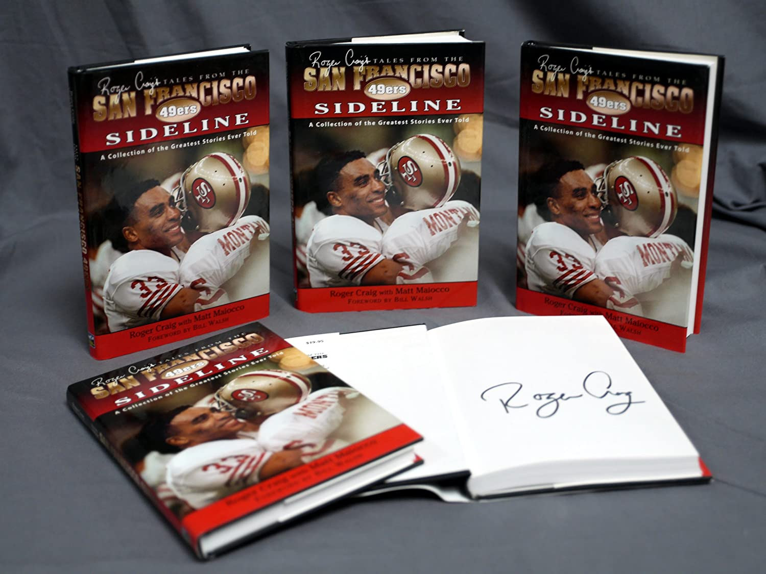 Roger Craig Signed Tales From the San Francisco 49ers Sideline